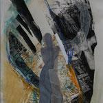Du vergisst, 2007, Collage nach einem Gedicht von Rose Ausländer, 23 x 32,5 cm, verkauft