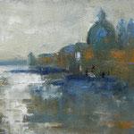 Santa Maria della Salute, 2018, Öl auf Leinwand, 60x20cm