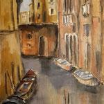 Stille über dem Kanal, 2018, Öl auf Leinwand, 40x80cm, verkauft