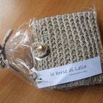 mod. 190 - euro 45,00 - cordino beige con tracolla in cuoio