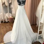 Brautkleid, Hochzeitskleid, Vintage, Boho, Chiffonrock, Häkelspitze, Gr. 38, 40, 46 Musterkleid