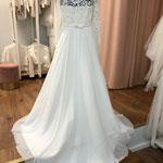 Brautkleid, Hochzeitskleid, Vintage,  Chiffonrock,  Gr. 42, 46  Musterkleid 580,00 Euro