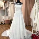 Brautkleid, Hochzeitskleid, Vintage, Boho, Chiffonrock, Häkelspitze, Gr. 38, 40, 46, Musterkleid