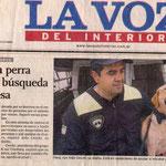 En el Diario Con Pana luego de certificar en Jujuy. Pana era la perra mas displicente que conocí en mi vida, todo se lo tomaba a la ligera, a veces me desquiciaba, pero como conocía el oficio.