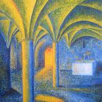 Kloster Chorin Abstrakt (Ölmalerei auf Spannplatte / 1997)