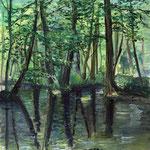 Spreewald (Wasserfarben auf Karton / 1998)