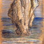 Gesteinskopf am Meeresstrand von Preveli - Der Denker