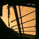 Vergessene Industrielandschaft Berlin-Oberschöneweide, Eingefallenes Dach