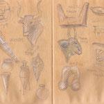 Ritual- und Alltagsgegenstände aus der griechischen Antike (Archäologisches Museum Kreta)
