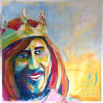 Der König, 100 x 100 cm, verkauft
