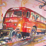 Bochum Eisenbahnmuseum, 48 x 38 cm, verkauft