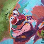 Clown, 50 x 40 cm, verkauft