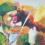 Der Clown, 80 x 60 cm