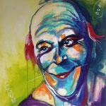 Der Clown, 100 x 100 cm, verkauft