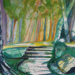 Waldweg, 76 x 56 cm