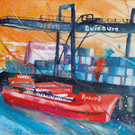 Duisburg Hafen, 76 x 56 cm, verkauft