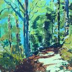 Sonne im Wald, 30 x 40 cm, 120 Euro