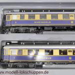 """Reisezugwagen-Satz """"Rheingold"""" der DR / Märklin 4228  6"""