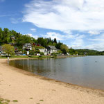 Lac Chambon et sa plage