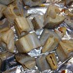 レンコン焼き(皮つき)
