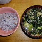 ご飯とスープ  夜