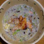 鮭雑炊  今日夜