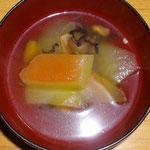 スイカの皮のスープ  朝