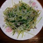 水菜ともやしの塩昆布和え  昼