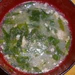 モロヘイヤスープ  昼