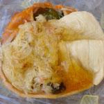 今日のお昼。宇豆野(うづきの)の惣菜。カニと湯葉**