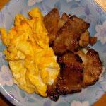卵焼きと豚焼き  昼