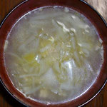 中華スープ(昨日の残り)