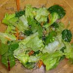 グリーンサラダ  トリュフオイルを使ってみました**