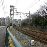 東武亀戸線の線路…どこの田舎だ;;