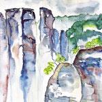 Gansfelsen bei der Bastei