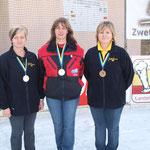 Damenbewerb: 2. Platz - Martina Weissinger, 3. Platz - Margit Zellhofer