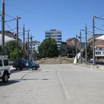 Strassensperre in Mitrovica: trennt die albanischen und serbischen Quartiere