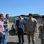 Auf der Fahrt in den serbisch kontrollierten Norden des Kosovo