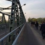 Brücke über die Theiss zur ukrainischen Grenze