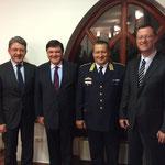 Treffen mit General Dr. Csaba Tarcsa Chief Commander of Szabolcs-Szatmár-Bereg County Police (NR Heinz Brand, John McGough, General Csaba Tarcsa, NR Peter Keller)