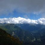 Regard vers le Mont Blanc à la Brèche