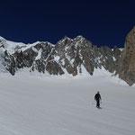 Ski sous le Mont-Blanc. Magique!