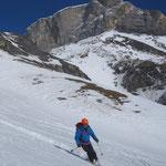 Après le carrelage du haut, ski détente dans la neige bien décaillée sous 2500