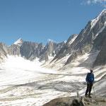Pause devant le Glacier d'Argentière