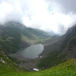 Descente sur le lac de la Vogealle