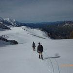 A la descente après le Col du Midi des Grands