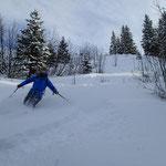 Grand ski dans la Coupe à Milleret
