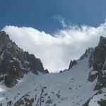 Notre objectif: Le Col du Chardonnet