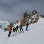 Au pied de l'arête de l'Aiguille du Midi