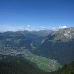 La plaine de Vallon vue du sommet